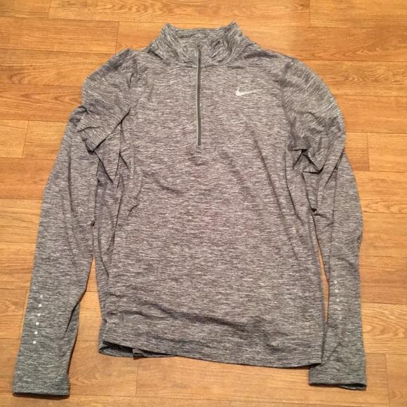 nike 3/4 zip hoodie